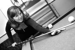 Plays on billiards Royalty Free Stock Photos