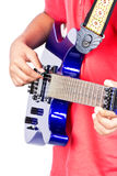Plays on the electric guitar Royalty Free Stock Photos