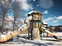 Playscape μέσα στο πάρκο της Elise Besse Στοκ Εικόνες