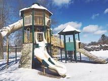 Playscape μέσα στο πάρκο της Elise Besse Στοκ εικόνες με δικαίωμα ελεύθερης χρήσης