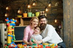 Free Playschool Concept. Playschool Kid Play With Mother And Father. Happy Family In Playschool. Playschool Education And Stock Image - 121617161