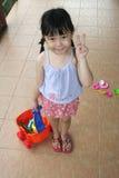 Playset da menina & da praia Fotos de Stock Royalty Free
