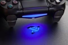 Playstation 4 κονσόλα τυχερού παιχνιδιού Στοκ Φωτογραφία
