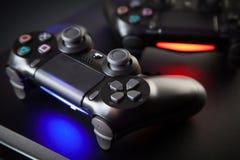 Playstation 4 κονσόλα τυχερού παιχνιδιού Στοκ εικόνα με δικαίωμα ελεύθερης χρήσης