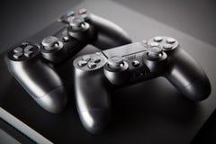 Playstation 4 κονσόλα τυχερού παιχνιδιού Στοκ φωτογραφία με δικαίωμα ελεύθερης χρήσης