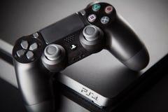 Playstation 4 κονσόλα τυχερού παιχνιδιού Στοκ εικόνες με δικαίωμα ελεύθερης χρήσης
