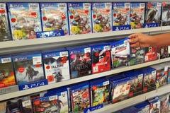 PlayStation 4 παιχνίδια Στοκ φωτογραφία με δικαίωμα ελεύθερης χρήσης