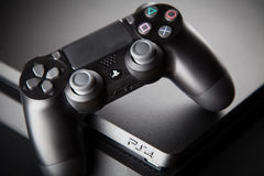 Playstation 4 Gaming Console Royalty Free Stock Images