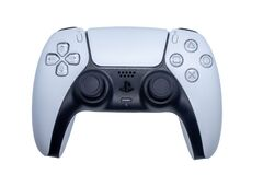 Free Playstation 5 Game Controller Isolated On White Background. Black And White Joystick Of The Gaming Playstation Five. Sony Ps5 Royalty Free Stock Photography - 215074787