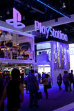 PlayStation booth at E3 2011. LOS ANGELES - JUNE 7: SONY PlayStation booth at E3 2011, the most important world video games Expo June 7, 2011 in Los Angeles Stock Photo