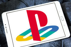 Playstation logo. Logo of playstation on samsung tablet Stock Photography