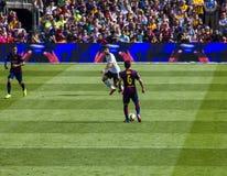 Playstationvoetbal van Barcelona Stock Fotografie