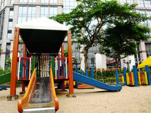 Plaything in the playground. Colorful plaything in the playground stock photo
