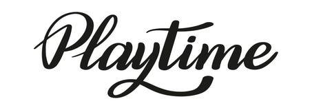 playtime Εγγραφή μανδρών βουρτσών διάνυσμα απεικόνιση αποθεμάτων