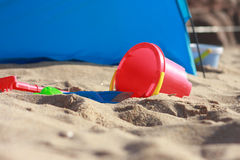 Playtime on the Beach Royalty Free Stock Photography