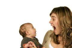 Playtime con il Mama Fotografia Stock