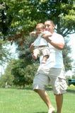 Playtime con il papà Fotografie Stock