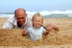 Playtime della figlia del padre Fotografie Stock