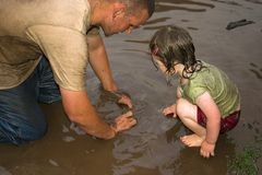 Playtime della figlia e del padre Immagine Stock Libera da Diritti