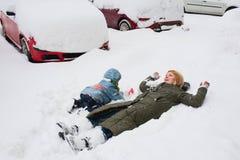 Playtime di inverno Immagini Stock