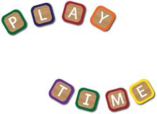 Playtime Kids Blocks. Kids blocks spelling play time isolated on a white background Royalty Free Stock Images