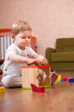 Playtime in playroom Stock Image