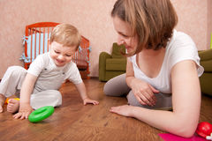 Playtime in playroom Royalty Free Stock Photo