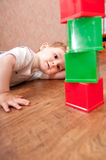 Playtime in playroom Royalty Free Stock Photos