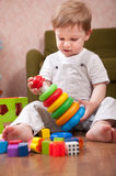Playtime in playroom Royalty Free Stock Image