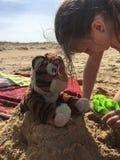 Playtime przy plażą Zdjęcie Royalty Free