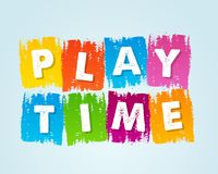 Playtime in motley drawn banner Stock Photo
