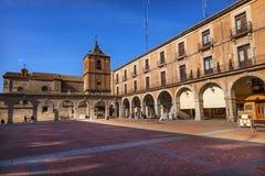 Plaza δήμαρχος Avila Arches Cityscape Καστίλλη Ισπανία Στοκ εικόνες με δικαίωμα ελεύθερης χρήσης