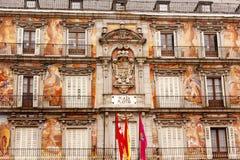 Plaza δήμαρχος Cityscape Towers Μαδρίτη Ισπανία Στοκ Φωτογραφίες