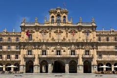 Plaza δήμαρχος de Σαλαμάνκα (σημαντική πλατεία Σαλαμάνκας), Σαλαμάνκα, Ισπανία Στοκ Φωτογραφία