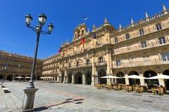 Plaza δήμαρχος de Σαλαμάνκα (σημαντική πλατεία Σαλαμάνκας), Σαλαμάνκα, Ισπανία Στοκ Εικόνες