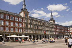 Plaza δήμαρχος Madrid, Ισπανία Στοκ Εικόνα