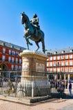 Plaza δήμαρχος Main Square στη Μαδρίτη, Ισπανία Στοκ Φωτογραφίες