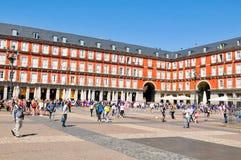 Plaza δήμαρχος Main Square στη Μαδρίτη, Ισπανία Στοκ φωτογραφίες με δικαίωμα ελεύθερης χρήσης