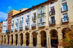 Plaza Αγίου James Logrono Arcades Mercado τρόπων Στοκ Εικόνα