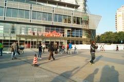 Plaza αγορών διακοπών Yitian Στοκ Εικόνα