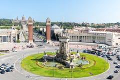 Plaza Βαρκελώνη Espana Στοκ Εικόνες