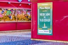 Plaza δήμαρχος Christmas Market, Μαδρίτη, Ισπανία Στοκ εικόνα με δικαίωμα ελεύθερης χρήσης