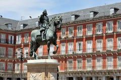 Plaza δήμαρχος de Μαδρίτη Στοκ φωτογραφίες με δικαίωμα ελεύθερης χρήσης