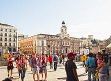 plaza δημάρχου της Μαδρίτης ανεμιστήρων Στοκ εικόνα με δικαίωμα ελεύθερης χρήσης