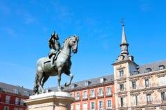 plaza δημάρχου της Μαδρίτης Στοκ Εικόνα