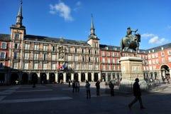 plaza δημάρχου της Μαδρίτης Στοκ Φωτογραφίες