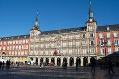 Plaza δημάρχου Madrid Spain Sunny πρωί Στοκ Φωτογραφίες