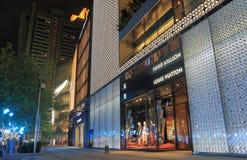 Plaza 66 εικονική παράσταση πόλης Σαγκάη Κίνα οδών λεωφόρων αγορών Στοκ Εικόνες
