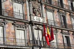 plaza δημάρχου της Μαδρίτης Στοκ φωτογραφίες με δικαίωμα ελεύθερης χρήσης