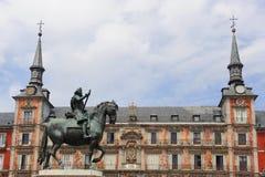 plaza Ισπανία δημάρχου της Μαδ&rho Στοκ Φωτογραφίες